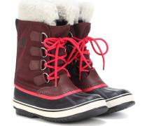 Stiefel Winter Carnival mit Leder und Pelz
