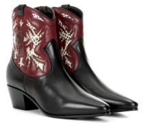 Verzierte Cowboy-Boots Rock 40 aus Leder