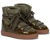 Stiefel mit Lederbesatz