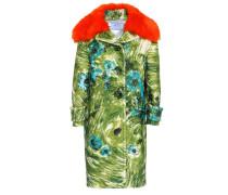 Mantel aus einem Alpaka-Woll-Gemisch mit Pelz