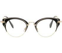 Brille mit Cat-Eye-Rahmen