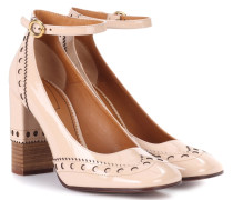 Pumps aus Leder in beige