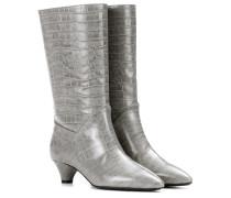 Stiefel aus geprägtem Leder