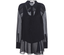 Verzierte Bluse aus Krepon