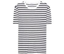 Gestreiftes T-Shirt aus einem Leinengemisch