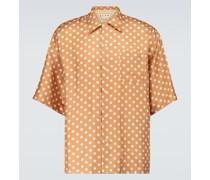 x Smiley® Kurzarmhemd aus Seide