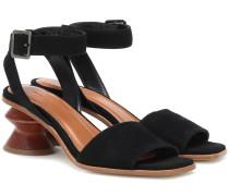 Sandalen Sonia aus Veloursleder