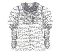 Verzierte Bluse aus Tüll