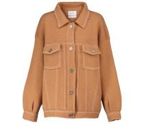 Jacke aus Kaschmir und Baumwolle