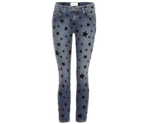 Bedruckte Cropped Jeans