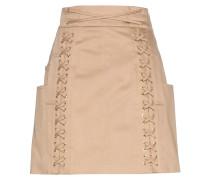 Minirock aus Baumwolltwill mit Lace-up-Details