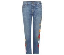 Bestickte Jeans Josefina Crop aus Stretchdenim
