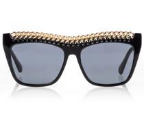 Verzierte Oversize-Sonnenbrille