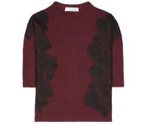 Pullover aus Wolle und Cashmere mit Spitze