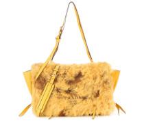 Tasche Etiquette aus Leder mit Pelz