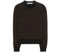 Bedruckter Pullover aus Wolle und Cashmere
