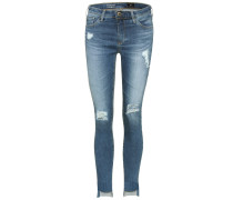 Cropped Jeans Middi mit Distressed-Details