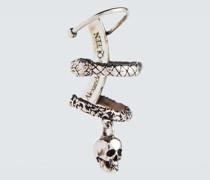 Einzelner Ohrring Skull and Snake