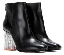 Ankle Boots Ora Glass aus Leder mit transparentem Absatz