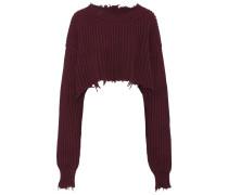 Cropped-Pullover aus Wolle und Cashmere