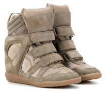 Étoile Bekett Wedge-Sneakers aus Glatt- und Veloursleder