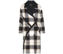 Mantel aus Wolle mit Karomuster
