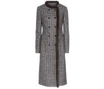 Tweed-Mantel aus einem Schurwollgemisch mit Nerz