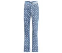 Bedruckte High-Rise Jeans