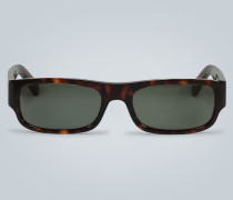 Eckige Sonnenbrille mit Acetat