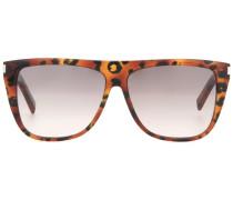 Sonnenbrille mit kantigem Rahmen aus Acetat