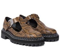 Mary-Jane-Loafers aus Leder