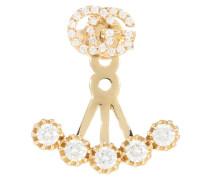Ohrringe Running G aus Gelbgold mit Diamanten