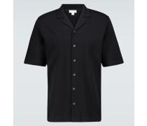 Kurzarmhemd aus Baumwoll-Piqué