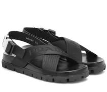 Sandalen mit Leder