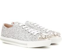 Verzierte Sneakers mit Glitter