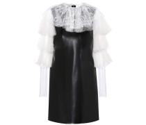 Kleid aus Kunstleder mit Spitze