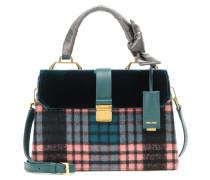 Handtasche aus Samt, Flanell und Leder