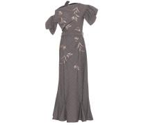 Kleid aus Baumwolle und Cashmere mit Stickerei
