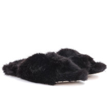 Slippers aus Faux Fur