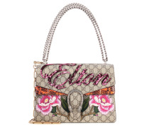 Dionysus medium canvas and snakeskin bag
