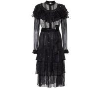 Semi-transparentes Kleid mit Rüschen