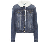 Jeansjacke mit Futter aus Faux Fur
