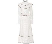 Gepunktetes Kleid aus Baumwolle