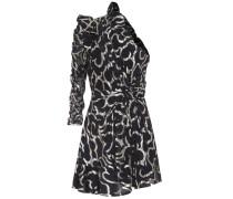 Asymmetrisches Kleid Clary mit Seide und Fil Coupé