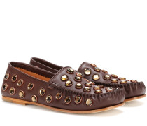 Loafers Jackson Stone aus Leder