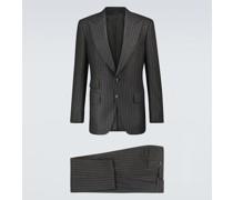 Gestreifter Anzug Atticus aus Flanell
