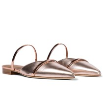 Slippers Frankie aus Metallic-Leder