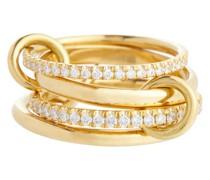 Ring Polaris aus 18kt Gelbgold mit Diamanten