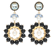 Verzierte Ohrringe mit Kristallen