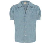 Bluse aus Chambray